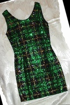 Tartan Plaid Sequin Dress