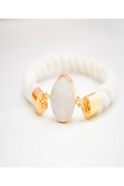 Gold Dipped Quartz Cotton Rope Bracelet