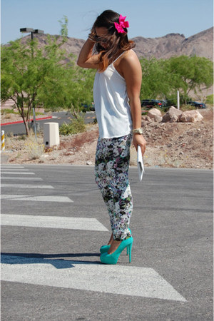 Zara pants - NA hat - TJMaxx bag - Charlotte Russe pumps - Local Boutique blouse