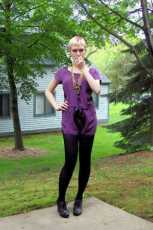 kimchi and blue suit - Jeffrey Campbell shoes - VintageThrifted necklace