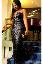 black Andrea Iyamah dress