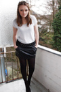 Gray-h-m-blazer-gray-h-m-shirt-black-tally-weijl-skirt-black-gio-moda-shoe