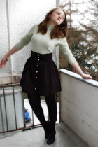 black H&M skirt - black H&M shoes - gold H&M accessories -