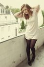 Beige-h-m-dress-black-tamaris-shoes-silver-h-m-accessories