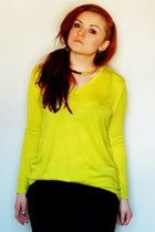 yellow New Yorker top