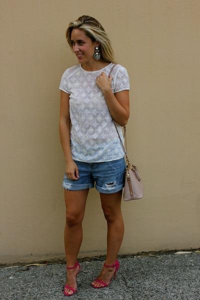 white lace Zara top