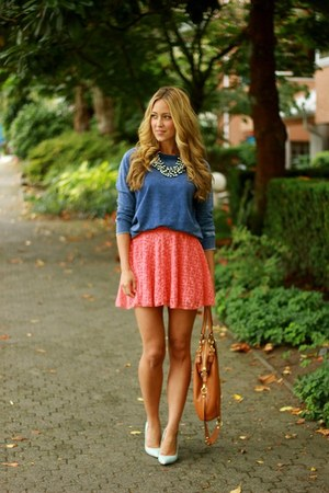 salmon lace Windsor Store skirt