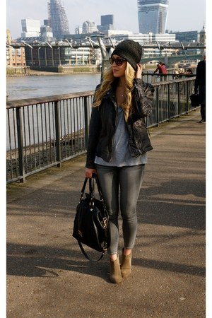gray leather Muubaa jacket