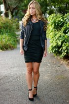 leather Muubaa jacket - leather Muubaa skirt - suede Pour La Victoire heels