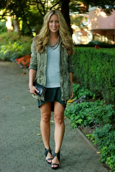 gray suede Muubaa dress