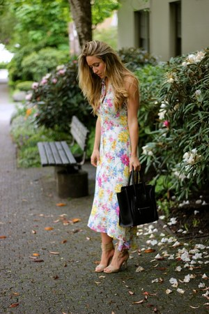 bubble gum floral luluscom dress