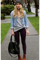 deep purple jeggings StyleMint jeans