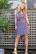 violet American Eagle dress - tan Old Navy wedges - light brown leather Aldo bel