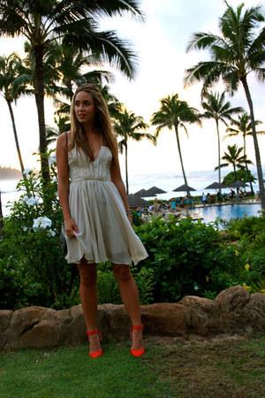 off white romantic H&M dress