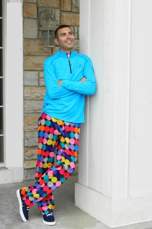 golf Loudmouth pants - adidas shoes - UnderArmour shirt