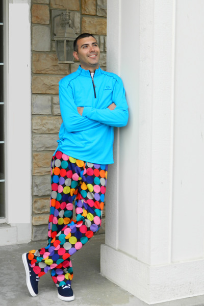 golf Loudmouth pants - adidas shoes - UnderArmour shirt