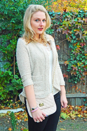 pitaya jacket - asos bag - Spanx top - madewell pants