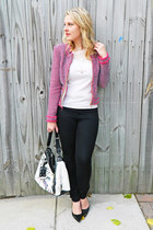 Elie Thairi sweater - madewell jeans - Zara jacket - LAMB bag