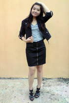 tendencies jacket - NyLa top - made by tailor skirt - Gitchy shoes