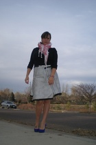 Etsy skirt - James Perse shirt - Ebay scarf - Christian Louboutin shoes - Gift f