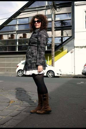 grey Sportscraft coat - white Country Road dress