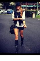 Adidas jacket - Fronarina boots - Marc by Marc Jacobs bag - Stradivarius pants