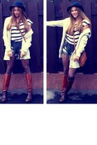 ASH boots - vintage hat - H&M shorts - Tommy Hilfiger cardigan