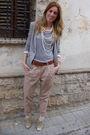 Beige-zara-pants-beige-forever-21-shoes-silver-h-m-t-shirt