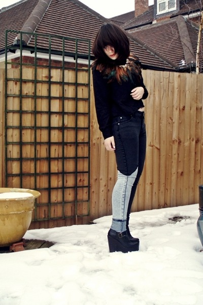 black skinny jeans Cheap Monday jeans - black Jeffrey Campbell boots