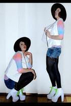 brixton hat - Forever 21 blouse - Jeffrey Campbell heels