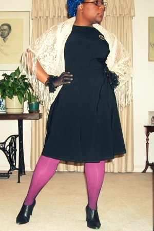 torrid dress - hat - scarf - gloves - Target tights - Dorothy Perkins boots