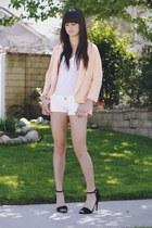 peach H&M blazer - black Zara heels