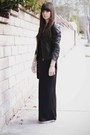 Black-maxi-dress-black-leather-jacket-gold-cuff-bracelet-gold-necklace