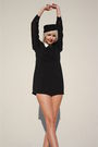 Black-vintage-dress-black-h-m-hat-black-forever-21-shoes