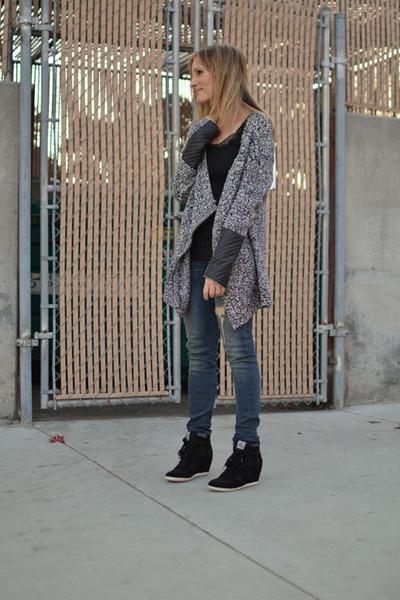 rag & bone jeans - caridgan H&M sweater - wedge ASH sneakers