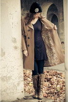 pink martini coat - Wanted boots - LinQ sweater