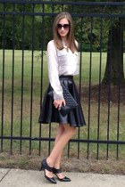ElevinParis skirt - sheer snakeskin Old Navy blouse - leather Ellen Tracy heels