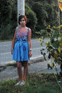 Blue-tracey-reese-dress-blue-urban-outfitters-skirt-silver-antique-necklace-