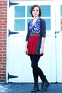 black doc martens boots - black Forever 21 leggings - brick red Urban Outfitters