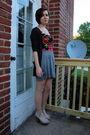 Gray-bdg-cardigan-black-forever-21-dress-gray-target-skirt-silver-antique-
