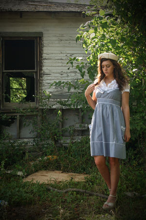 blue Modcloth Chain Letter dress - white Salvation Army shoes - white Ebay shirt