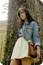 Blue-old-jacket-blue-savers-blouse-white-savers-skirt-brown-savers-shoes-