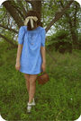 Blue-savers-dress-thrift-purse-target-socks