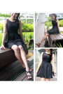 Black-agneselle-dress-black-hush-puppies-wedges
