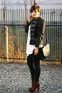 Brown-topshop-boots-charcoal-gray-zara-jacket