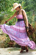 bubble gum maxi dress - purple Pimkie belt