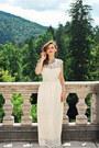 Off-white-maxi-sheinside-dress-sky-blue-zara-necklace