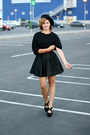 Black-suede-forever-21-shoes-black-river-island-skirt