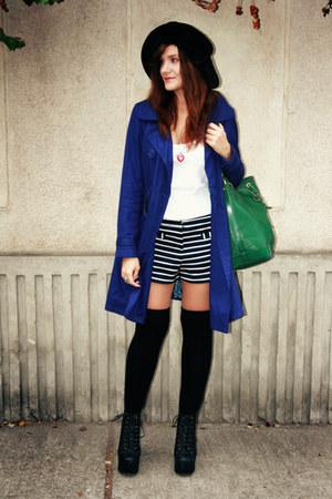 Topshop shorts - Jeffrey Campbell shoes - Bershka coat - Louis Vuitton bag - vin