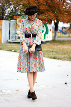 flower print vintage dress - vintage accessories